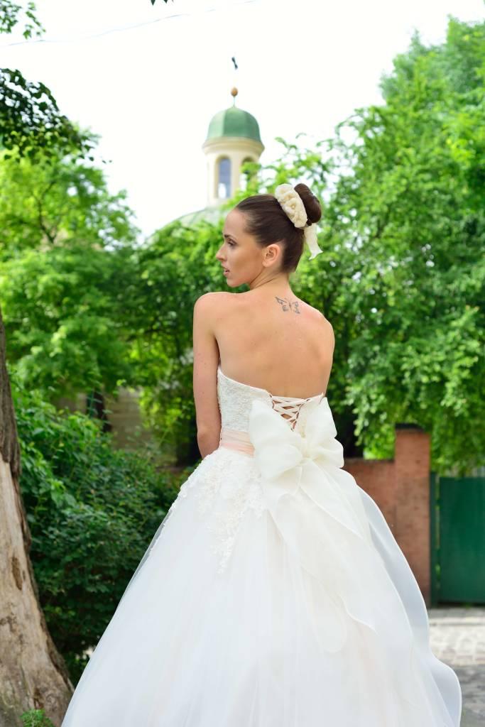 983a814f47f370 IZABELLA БАЛЬНА ВЕСІЛЬНА СУКНЯ З МЕРЕЖИВНИМ ЛІФОМ - НіЕль весільний ...