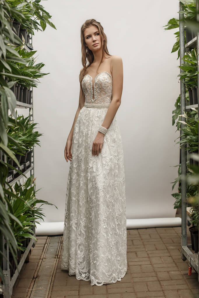 NIKOLE ВЕСІЛЬНЕ ПЛАТТЯ З МЕРЕЖИВА З ВІДКРИТОЮ СПИНКОЮ - НіЕль весільний  салон-ательє NiEl  Bridal Atelier f71071d07274d